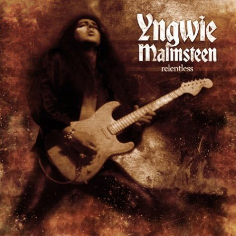 cover of Yngwie Malmsteen's album, Relentless. Share this: Share